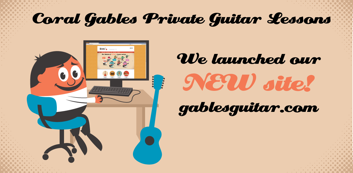 New Coral Gables Private Guitar Lesson Website